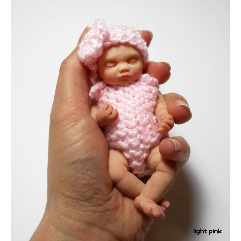 "Handmade knitted 2 piece set for mini baby 4,5""- 5"" by Knitted Darlings #23"