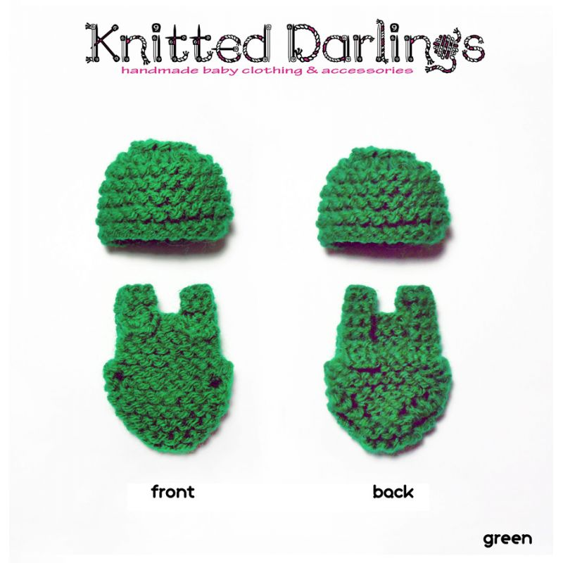 "Handmade knitted 2 piece set for mini baby 4,5""- 5"" by Knitted Darlings #42"