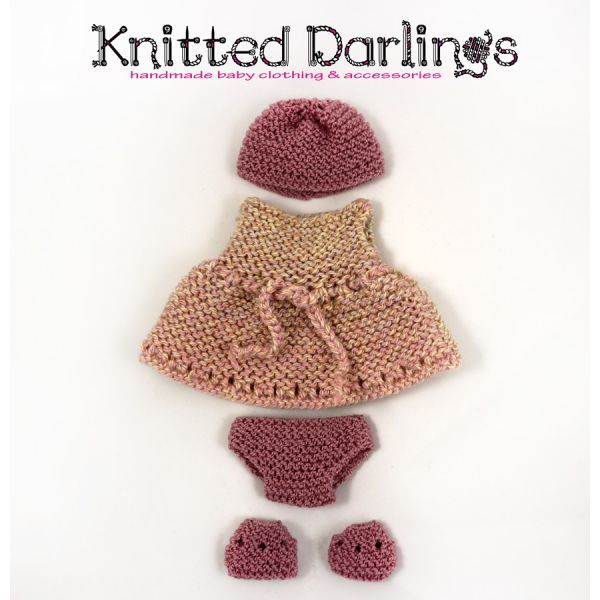 "Handmade knitted 4 piece set for baby 9,44""- 10"" by Knitted Darlings #4"